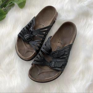 Birkenstock Betula Black Two Strap Sandal 38 7.5